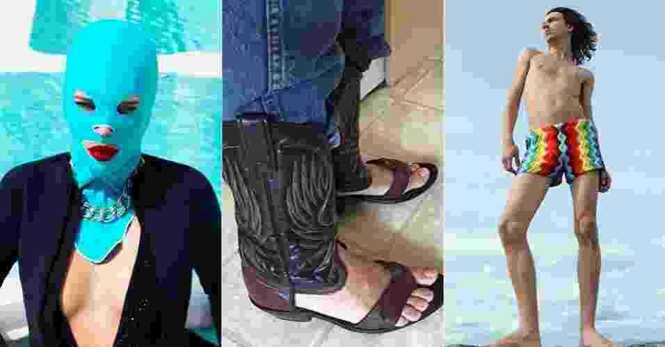 Montagem artigos de moda bizarros - Divulgação/Reprodução/Facebook