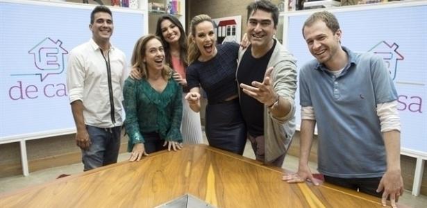Apresentadores do É de Casa, da Globo, que cresceu 35% em ibope desde estreia - Renato Rocha Miranda/TV Globo
