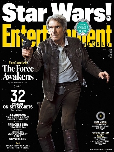 "11.nov.2015 - Harrison Ford estampa capa da revista ""Entertainment Weekly"" na pele de Han Solo"