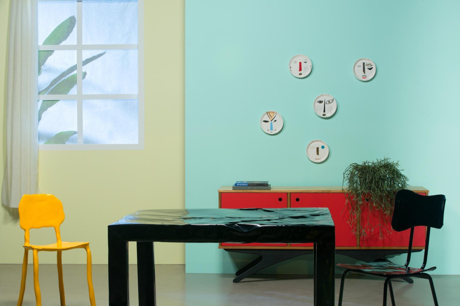Salas De Jantar Ideias Para Decorar O Ambiente Bol Fotos Bol Fotos -> Como Decorar Parede De Sala Com Material Reciclados