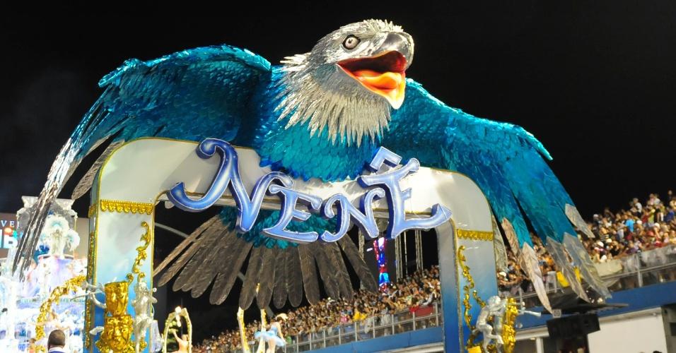 6.fev.2016 - Carro alegórico da Nenê de Vila Matilde, quinta escola a desfilar na primeira noite do Carnaval de São Paulo