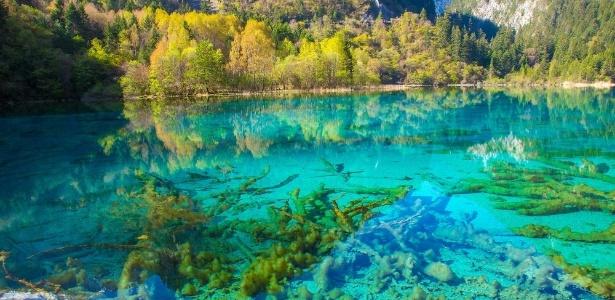 O lago das Cinco Flores é um dos cartões-postais do parque chinês - Jean-Marie Hullot/Creative Commons