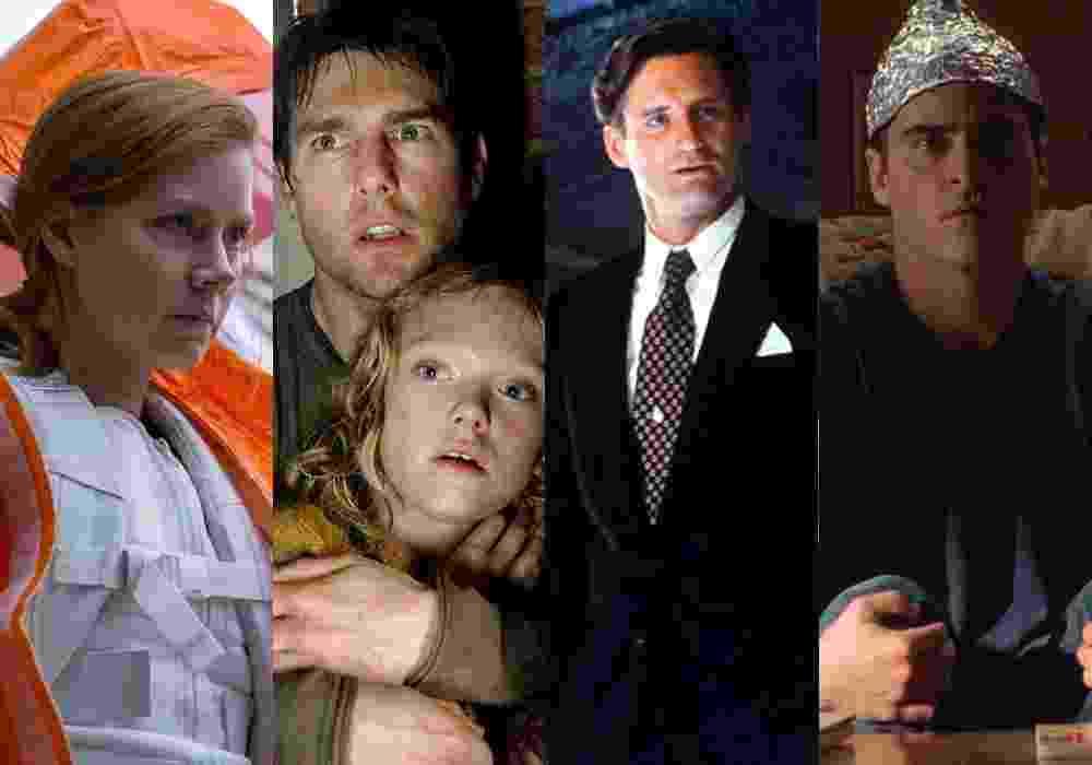 """Cenas dos filmes """"A Chegada"""" (2016), de Denis Villeneuve, """"Guerra dos Mundos"""" (2005), de Steven Spielberg, """"Independence Day"""" (1996), de Roland Emmerich e """"Sinais"""" (2002), de M. Night Shyamalan - Divulgação/Montagem"""