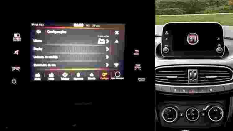 Flagra do painel definitivo do Fiat X6H - Arte UOL Carros - Arte UOL Carros