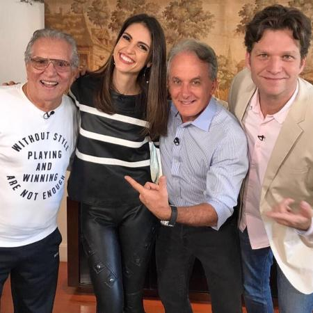 Carlos Alberto de Nóbrega, Chris Flores, Otávio Mesquita e Carlos Bertolazzi  - Divulgação