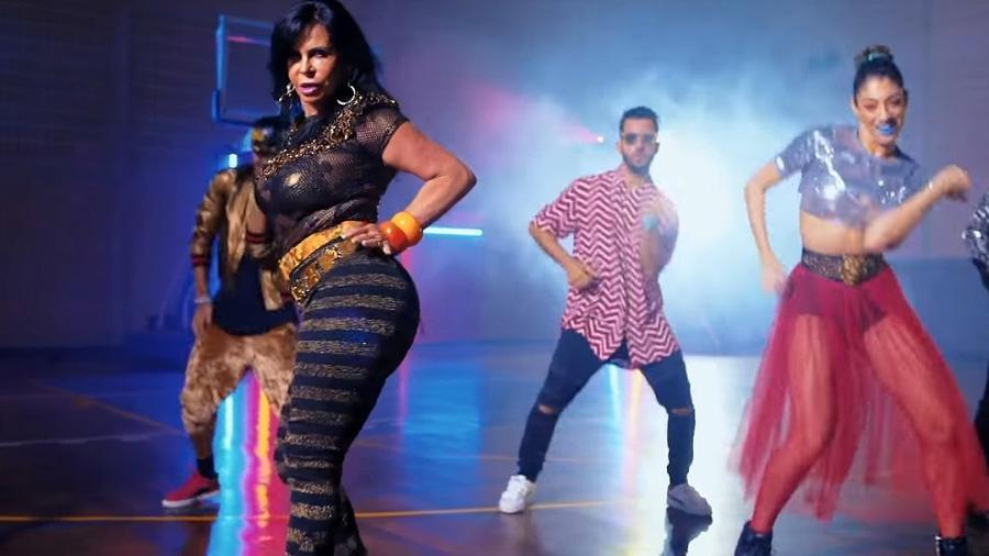 """Cena do vídeo de """"Swish Swish"""", música de Katy Perry e Nicki Minaj, que tem Gretchen como estrela - Reprodução/YouTube"""