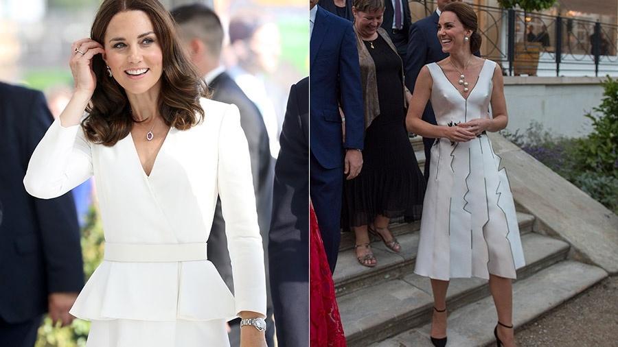 Kate Middleton usa branco à tarde e à noite em viagem à Polônia - Getty Images