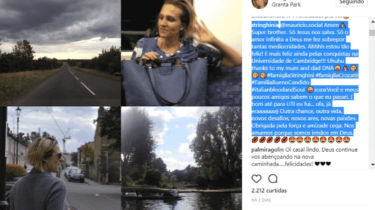 Amalia Stinghini, mulher de Evaristo Costa, fala sobre mudança do Brasil - Reprodução/Instagram/stinghinia - Reprodução/Instagram/stinghinia
