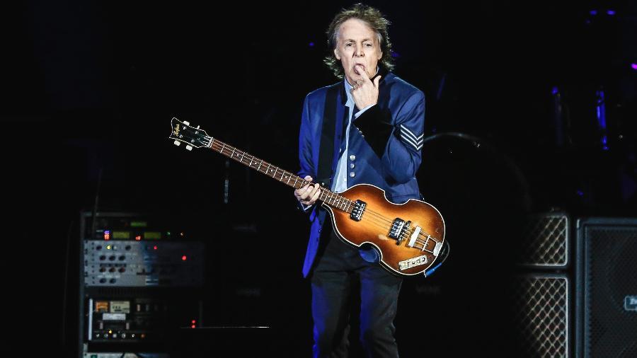 Show do cantor Paul McCartney, no estádio Allianz Parque, em São Paulo, no ano passado - Lucas Lima/UOL