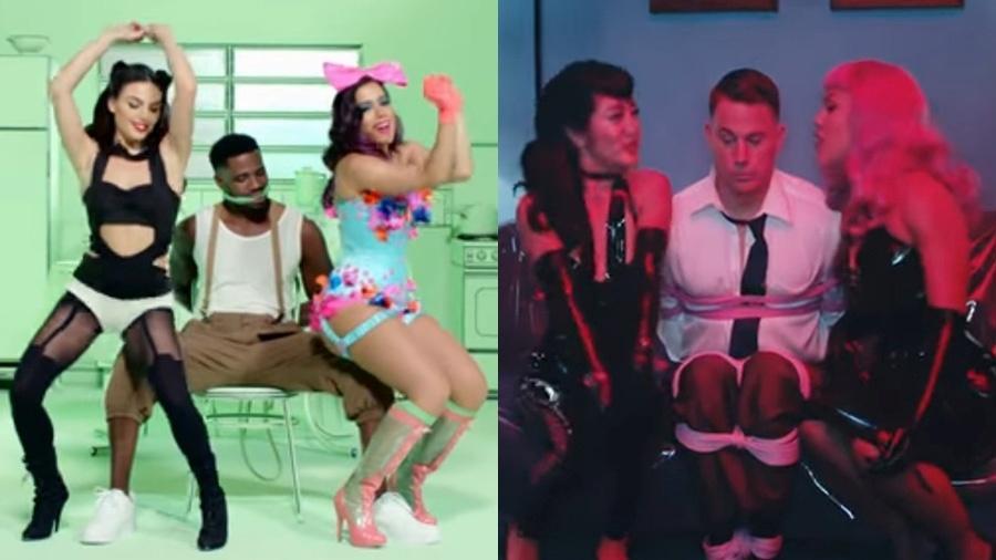 Internautas viram várias semelhanças entre os clipes de Anitta e Pink - Reprodução/YouTube