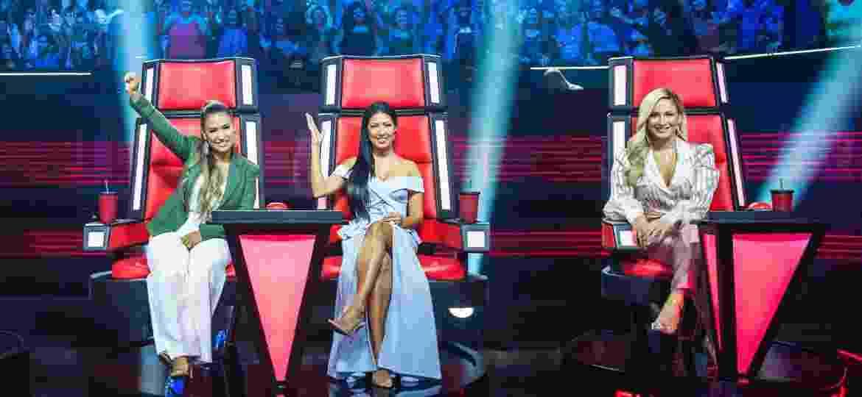 """As juradas do """"The Voice Kids"""": a dupla Simone e Simaria e Claudia Leitte - Divulgação"""