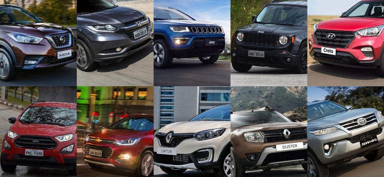 Maioria dos SUVs atuais é projetada para rodar a maior parte do tempo no asfalto e pode sofrer com alagamentos, inclusive em vias pavimentadas - Divulgação