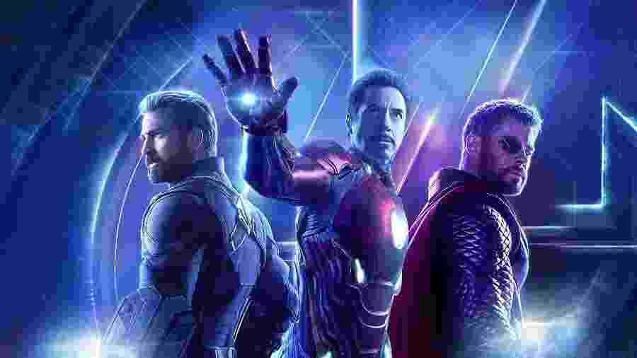 Os Vingadores Capitão América, Homem de Ferro e Thor - Arte UOL