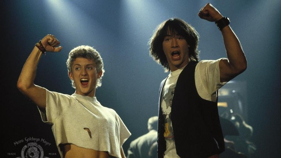 """Alex Winter e Keanu Reeves em """"Bill & Ted"""" - Divulgação"""