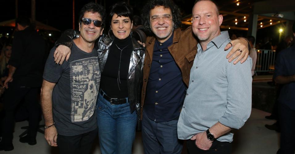 George Israel, Fernanda Abreu, Paulinho Moska e Emmanuel Zuns, no Rio