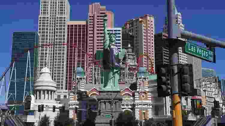 Estátua da Liberdade que fica em Las Vegas - Ethan Miller/Getty Images - Ethan Miller/Getty Images