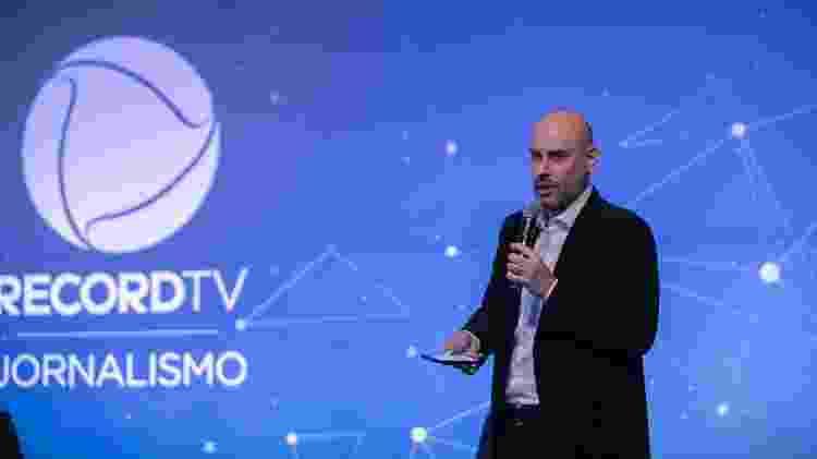 Douglas Tavolaro,  vice-presidente de jornalismo da Record TV - Divulgação / Edu Moraes - Divulgação / Edu Moraes