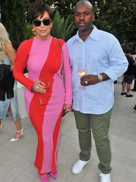 Kris Jenner namora Corey Gamble -- e, para ela, o relacionamento está ótimo assim - Getty Images