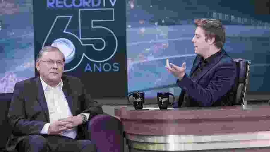 "Milton Neves no ""Programa do Porchat"" - Edu Moraes/Record TV"