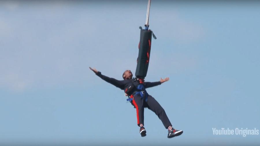 Will Smith durante salto de bungee jump no Grand Canyon - Reprodução