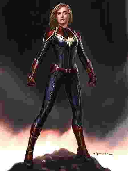 """Andy Park fez desenho da """"Capitã Marvel"""" para o estúdio - Reprodução - Reprodução"""