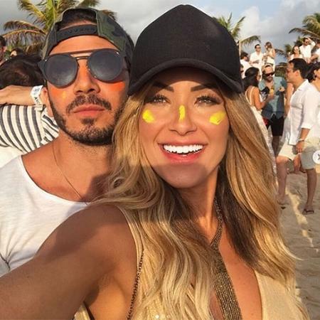 """Gustavo namorou por cerca de um ano Daiane de Paula, repórter do """"Domingão do Faustão"""" - Reprodução/Instagram"""