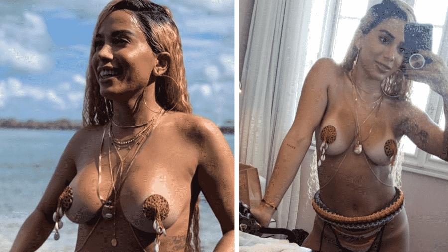 """Anitta grava clipe da música """"Bola, Rebola"""", em Salvador - Reprodução/Montagem"""