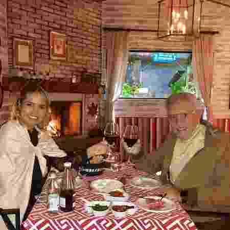 Carlos Alberto de Nóbrega e Renata Domingues em Campos do Jordão (SP) - Reprodução/Instagram