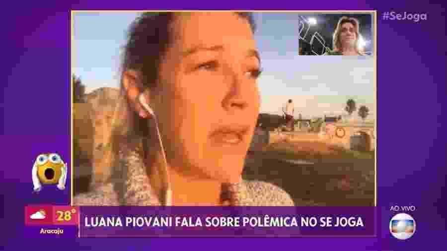 Luana Piovani fala com Fernanda Gentil no Se Joga - Reprodução/TV Globo
