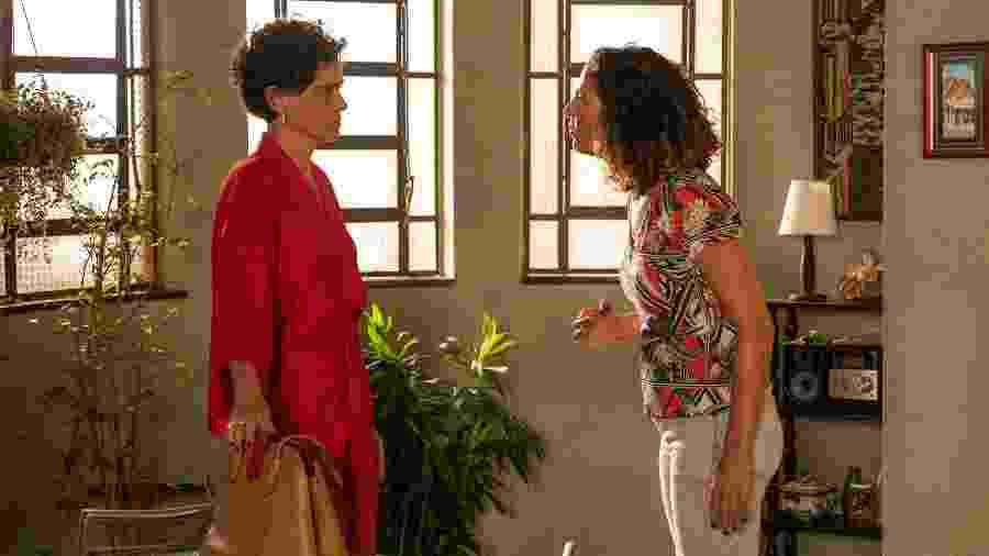 Penha e Leila discutem e acabam se agredindo - Globo/Victor Pollak