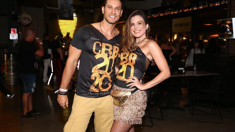 Ex-BBBs Eliéser e Kamilla Salgado no Camarote Bar Brahma, em São Paulo - Manuela Scarpa/Brazil News