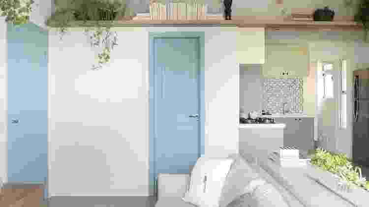 Porta colorida azul - Reprodução/Pinterest - Reprodução/Pinterest