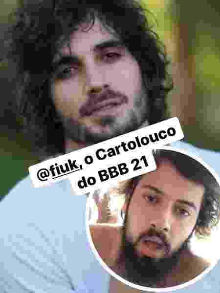 """""""BBB 21"""": Cartolouco diz que Fiuk será sua versão no reality da Globo - Reprodução/Instagram - Reprodução/Instagram"""