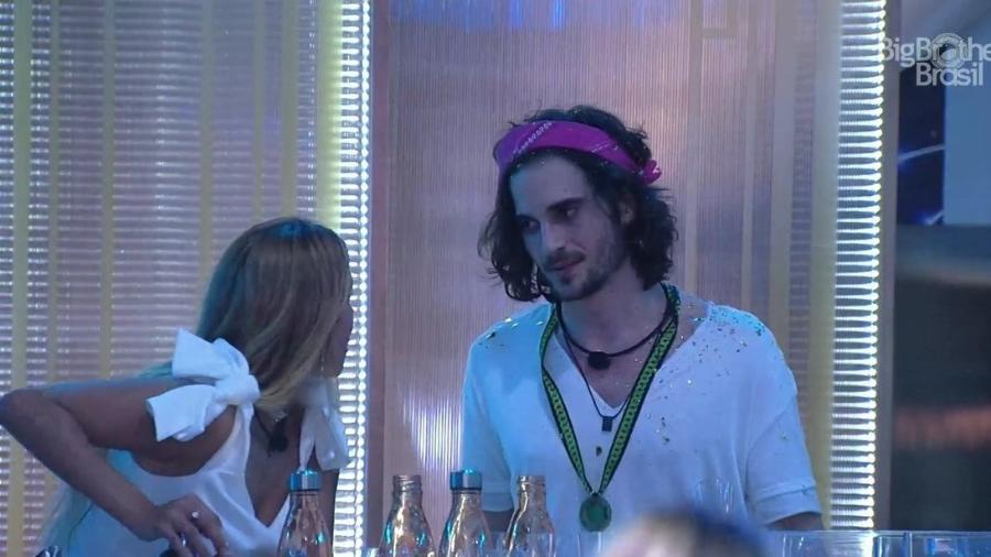 BBB 21: Kerline e Fiuk conversam na primeira festa do reality - Reprodução/Globoplay