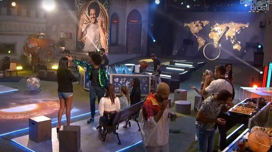 BBB 21: Festa do líder João Luiz - Reprodução/ Globoplay