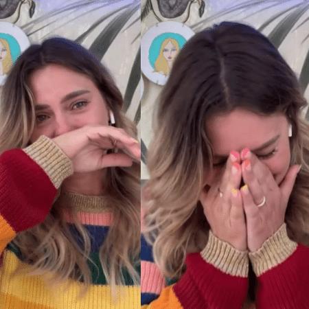 """Carolina Dieckmann se emociona no """"É de Casa""""  - Reprodução / Globo"""