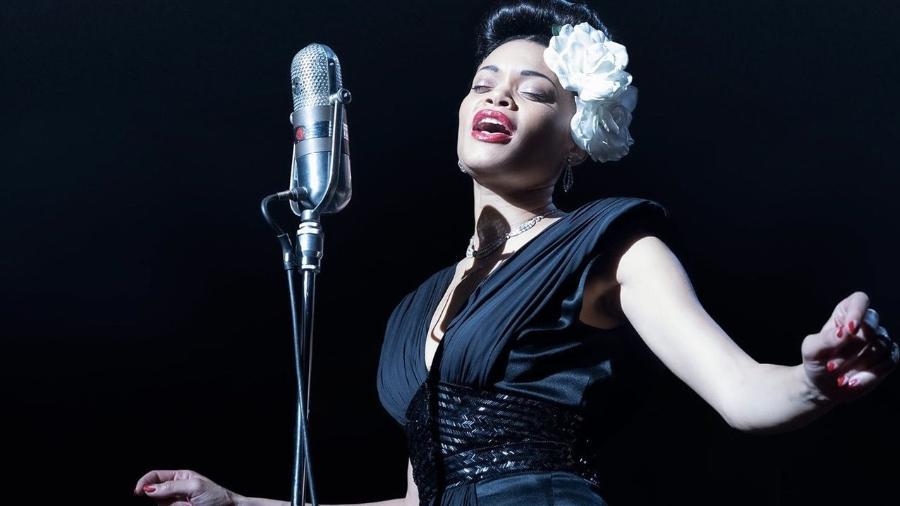 """Andra Day em """"Estatos Unidos vs. Billie Holiday"""" - Reprodução"""