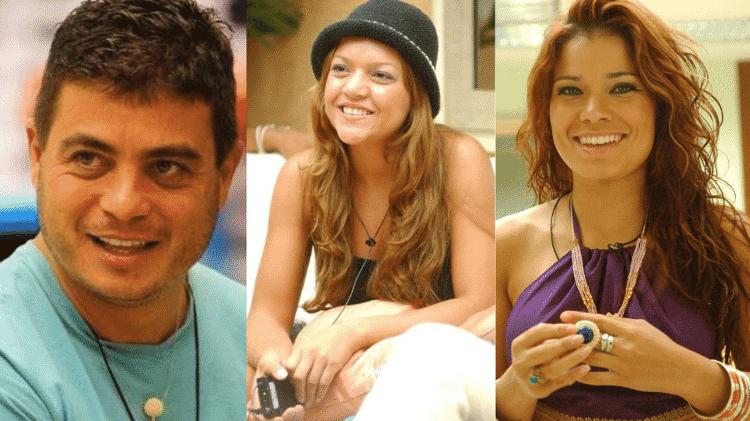 Dhomini, Elane e Viviane no BBB 3 - Reprodução/TV Globo - Reprodução/TV Globo