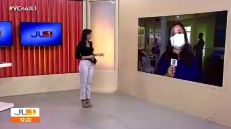 Anúncio veio ao final da entrada de Priscilla Castro no JL1, em participação sobre a vacinação contra covid-19 - Reprodução/TV Liberal