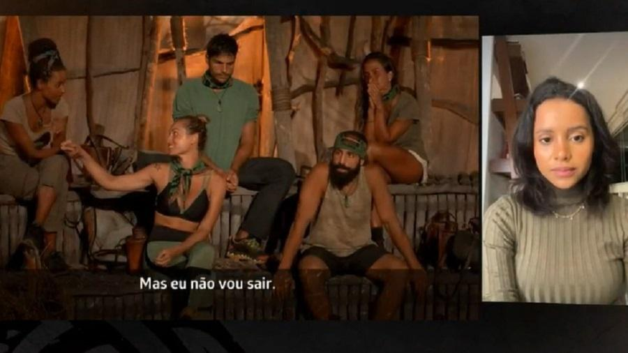 No Limite: Gleici nega soberba com Jéssica no portal da eliminação - Reprodução/Rede Globo