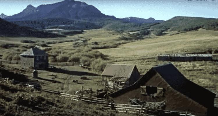 O rancho durante uma cena do filme de 1969 - Reprodução - Reprodução