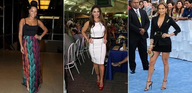 Juliana Alvez, Viviane Araújo e Jennifer Lopez exibem seus corpos curvilíneos em looks certeiros - Agnews e Getty Images