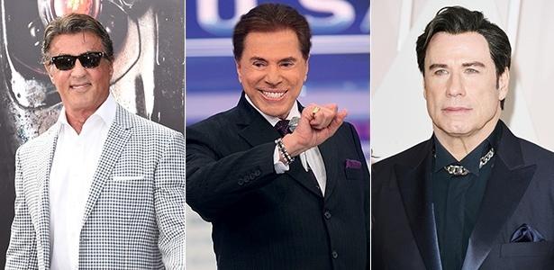 Sylvester Stallone, Silvio Santos e John Travolta são alguns dos homens famosos que já caíram na faca - Getty Images/Divulgação