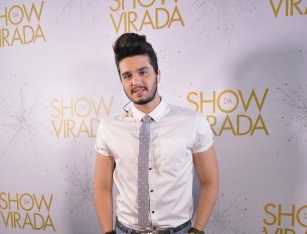 """25.out.2015 - Luan Santana participa da gravação do """"Show da Virada"""""""