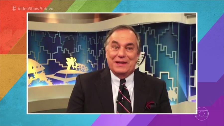 """Apresentador Ronnie Von aparece em mensagem gravada para o """"Vídeo Show"""" - Reprodução/TV Globo"""