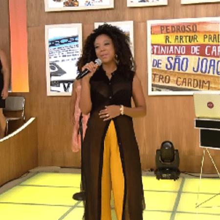 Negra Li anuncia que está grávida de três meses - Reprodução/TV Globo