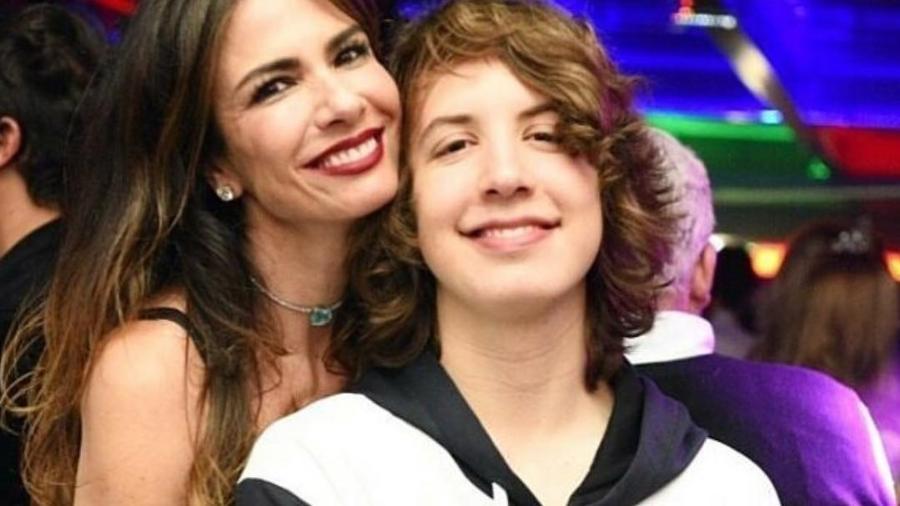 Luciana Gimenez e o filho mais velho, Lucas Jagger - Reprodução/Instagram