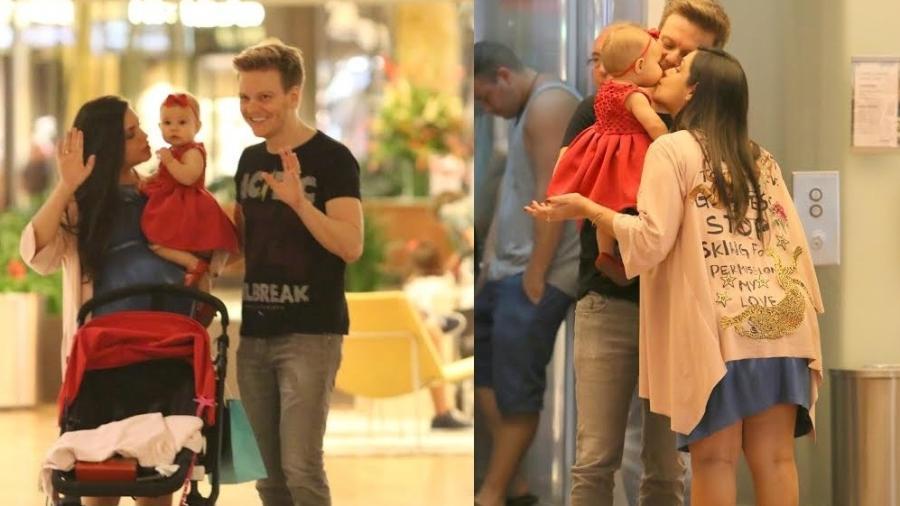 Thais Fersoza e Michel Teló passeiam com Melinda no Rio de Janeiro - Ag.News