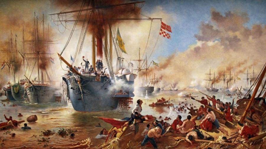 """Obra """"Combate Naval do Riachuelo"""", Victor Meirelles - Reprodução"""