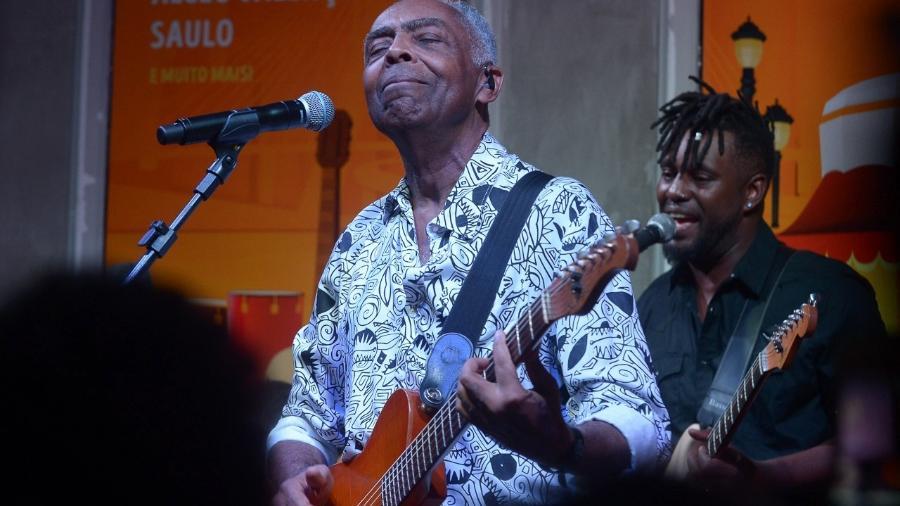 Gilberto Gil no Carnaval em SP - Francisco Cepeda/AgNews